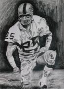 League Drawings Framed Prints - Biletnikoff Framed Print by Jeremy Moore
