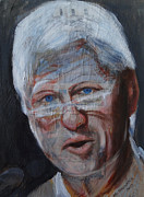 Bill Clinton Mixed Media Posters - Bill Clinton fantasy 1. Poster by Agnieszka Praxmayer