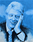 Bill Clinton Painting Prints - Bill Clinton Print by Victor Minca