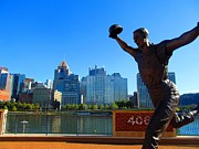Pittsburgh Pirates Prints - Bill Mazeroski Statue Celebrates Pittsburgh Print by Matthew Peek