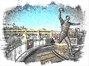 Bill Mazeroski Prints - Bill Mazeroski Statue Print by Spencer McKain