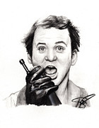 Rosalinda Drawings - Bill Murray by Rosalinda Markle