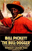 Grade 1 Posters - Bill Pickett The Bull-Dogger Poster by Norman Film