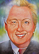 Hillary Clinton Painting Prints - Billary Print by Gary McLaughlin