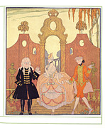 Style Painting Posters - Billet Doux Poster by Georges Barbier