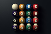 Billiard Digital Art Prints - Billiard Balls Print by NicoWriter