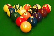 Recreational Pool Prints - Billiard game balls Print by Guang Ho Zhu