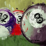 Sports Art Digital Art - Billiards 12 3 8 by David G Paul