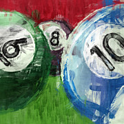 Pool Balls Digital Art - Billiards 6 8 10 by David G Paul