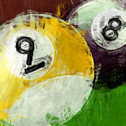 Sports Art Digital Art - Billiards 8 and 9 by David G Paul