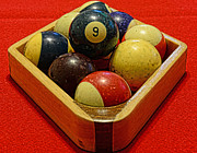 Pocket Billiards Prints - Billiards - 9 ball - Pool Table - Nine ball Print by Paul Ward