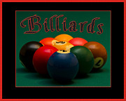 9 Ball Framed Prints - Billiards Sign by Floridafred Framed Print by Frederick Kenney