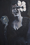 Billie Holiday Prints - Billie Holiday Print by Annalise Kucan