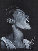 Rosalinda Drawings - Billie Holiday by Rosalinda Markle