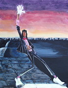 Motown Painting Originals - Billie Jean V2 by Tu-Kwon Thomas