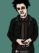 Green Day Digital Art Posters - Billie Joe Armstrong Poster by Jera Sky
