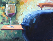 Canvas Wine Prints Prints - Bills Grill Print by Todd Bandy