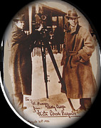 Autographed Metal Prints - Billy Bitzer D.W. Griffith Pathe camera Way Down East 1920-2013 Metal Print by David Lee Guss