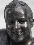 Hockey Sculpture Originals - Billy Bridges Close Up Face. by JA Fligel
