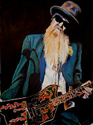 Zz Top Posters - Billy Gibbons Poster by Chris Benice