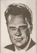Billy Graham Drawing Print by Robert Crandall