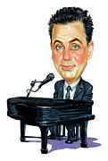 Caricatures Paintings - Billy Joel by Art