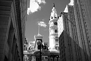Philadelphia City Hall Framed Prints - Billy Penn Keeps Watch Framed Print by Photographic Arts And Design Studio