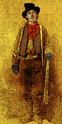 Western Art Digital Art Framed Prints - Billy The Kid 20130211v2 long Framed Print by Wingsdomain Art and Photography
