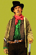 Western Art Digital Art Framed Prints - Billy The Kid 20130518 Framed Print by Wingsdomain Art and Photography