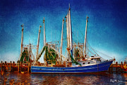 Shrimp Boat Prints - Biloxi Boat Docks Print by Barry Jones