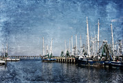 Biloxi Framed Prints - Biloxi Shrimp Boats Framed Print by Joan McCool