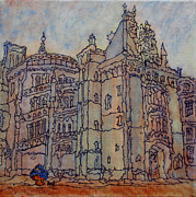 Prague Castle Paintings - Biltmore Estate  by Oscar Penalber