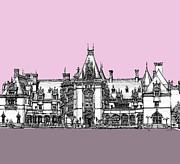 Biltmore Estate Pink And Lilac Print by Lee-Ann Adendorff