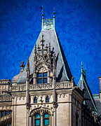 Asheville Digital Art Framed Prints - Biltmore Skies Framed Print by Perry Webster