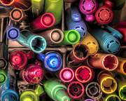 Pen  Photo Posters - Bin Full of Markers Poster by Scott Norris