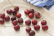 Cherries Posters - Bing Cherries Diffused Sunlight Poster by Rich Franco