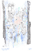 Valluzzi Drawings Prints - Bingham Fluid Print by Regina Valluzzi