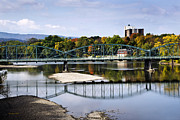 Fall River Scenes Prints - Binghamton NY South Washington St. Bridge Print by Christina Rollo
