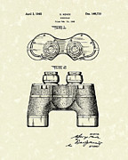 Field Glasses Prints - Binocular 1945 Patent Art Print by Prior Art Design