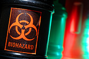 Biological Photo Posters - Biohazard Poster by Olivier Le Queinec