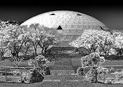 Gregory Dyer Posters - Biosphere2 - Dome Panorama Poster by Gregory Dyer