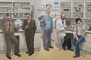 Inventors Prints - Biotechnology Pioneers of Silicon Valley Print by Terry Guyer