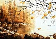 Birch Island Mist Print by Hanne Lore Koehler