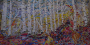 Birch Trees Tapestries - Textiles - Birch Paradise by Heather Hennick