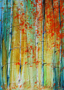 Jewel Tones Originals - Birch Tree Forest by Jani Freimann