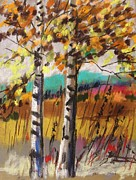 John  Williams - Birches in Autumn Light
