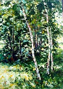 Olga Kurzanova - Birches in solar...