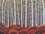 Birches Print by Sally Rice