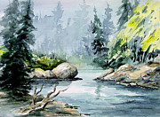 Creek Paintings - Bird Creek by Sam Sidders