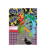 Jonathan Benitez Metal Prints - Bird dreaming of a Woman Metal Print by Jonathan Benitez